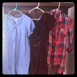 3 children's dresses